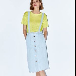 Zara NEW midi skirt with buttons